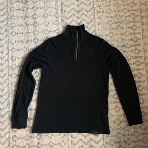 Calvin Klein Jeans mock turtleneck zip up sweater